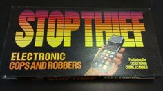 Vintage 1979 Stop Thief Electronic Cops and Robbers Board Game Parker Brothers | eBay