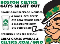 "Boston Celtics ""Guys Night Out"" Promotion"