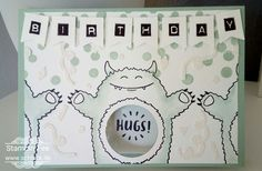 stampin occasions 2017 yummy in my tummy monster  birthday hugs window Card Geburtstagsumarmung  Fenster Karte Frühjahrkatalog 2017