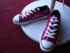 My favorite pair of shoes I ll ever own- Hot Pink Sparkly Converses aka 49537abeb9