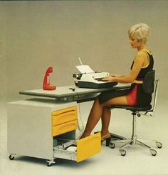 German manufacturer Gesika, a pioneer of melamine office furniture, 1970s