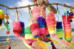 Gotta get some of these bright woven pom poms
