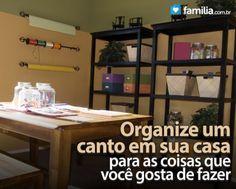 Familia.com.br | Como organizar sua sala de artesanato #Artesanato #Criatividade #Ideias #Organizacao #Espaco