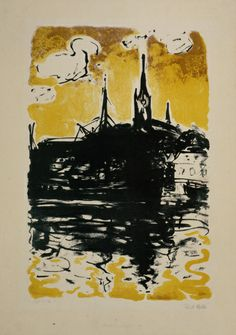 Emil Nolde, Church and Boat, Sonderburg, 1907/1915