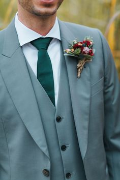 Groom in Paul Smith Suit - Miss Gen Photography | Rustic Boho Wedding at The Barn at Bury Court in Surrey with First Look | Minna Bridal 'Rosie' Wedding Dress | Charlotte Olympia 'Desiree' Pom Pom Shoes