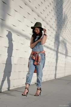 DIY STYLE | PLAID AND OVERALLS