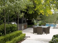 Peter Fudge creates gardens that connect in deep and meaningful ways. Peter has been designing beautiful gardens since Every garden design has… Fudge, Outdoor Rooms, Outdoor Gardens, Outdoor Living, Formal Gardens, Outdoor Tiles, Porches, French Courtyard, Living Pool