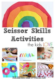 Scissor Skills Activities and Crafts for Kids - FSPDT