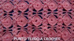 Punto a crochet para tejer cobijas de bebe y blusas
