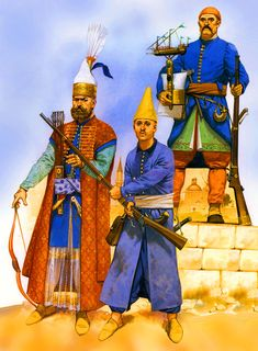 Ottoman Janissary troops and Acemi Oglan