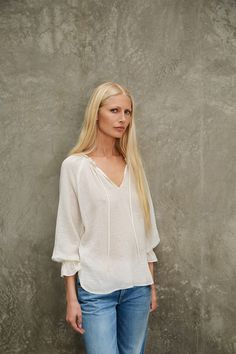 SUNFLOWER COTTON GAUZE PEASANT TOP IN SCALLOP