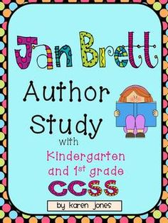 Jan Brett Author Study with Kindergarten grade Commo Library Lesson Plans, Library Lessons, Art Lessons, Kindergarten Language Arts, Kindergarten Literacy, Preschool, Teaching Reading, Reading Tips, Guided Reading