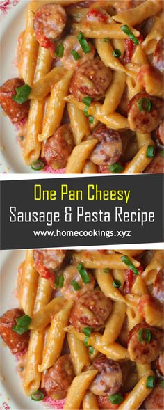 One Pan Cheesy Smoked Sausage & Pasta RecipeYou MUST make this for dinner - everyone will love it ! Done in under 30 minutes - EVERYTHING cooks in ONE pan! One Pan Cheesy Smoked Sausage & Pasta Recipe Sausage Recipes For Dinner, Smoked Sausage Recipes, Best Sausage, Pasta Dinner Recipes, Recipes Using Sausages, Sausage Meals, Best Pasta Recipes, Cooking Recipes, Healthy Recipes