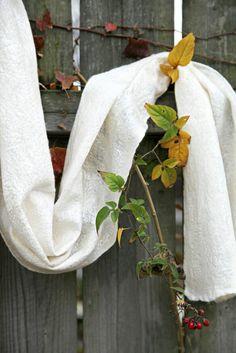 Merino Nuno scarf embellished with silk threads. Fibre Art, Silk Thread, Blanket, Home Decor, Decoration Home, Room Decor, Blankets, Cover, Home Interior Design