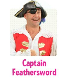"""Captain Feathersword is a friendly pirate who has a feather as a sword which he uses to tickle everyone.Captain Feathersword has magical, musical pirate buttons which help the Captain sing and dance like anyone and anything in the world!Whenever he sees his Wiggly friends, he says """"Ahoy there me hearties!""""  #TheWiggles #CaptainFeathersword"""