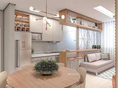 Modern home design Apartment Interior, Apartment Design, Kitchen Interior, Interior Design Living Room, Living Room Designs, Living Room Decor, Condo Living, Light In, Modern House Design