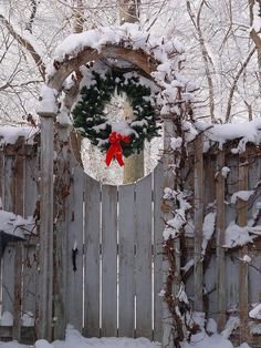 Arbor with and Christmas wreath. Yes, I am going to do this!