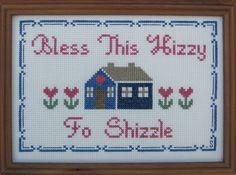 Cross stitch sampler. Great housewarming gift
