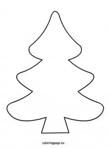 christmas tree outline coloring pages - photo#31