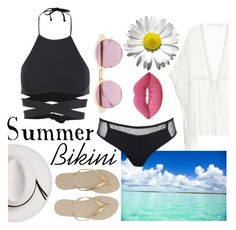 """Summer :)"" by mikijxx ❤ liked on Polyvore featuring L*Space, Topshop, Sheriff&Cherry, Calypso Private Label, Havaianas and Lime Crime"
