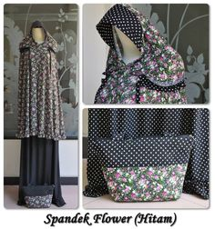 Mukena Spandex Flower Bahan Spandex Sutera Set = Mukena + Tas 085855741030 Only SMS, PIN by Request Buy Now Or Cry Later ;)