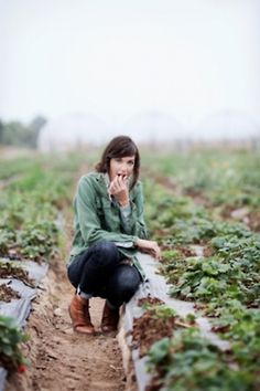 Demeter girl in the strawberry fields. Penny could do this