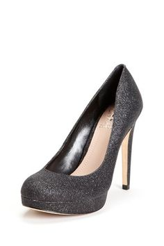 dark grey sparkly heels