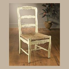 distressed french country chair