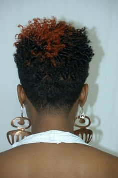 Short tapered natural hair