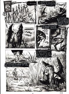 """Titolo: """"La preda"""" Pagina 4 credits@StefanoCortese"""