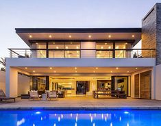 Residential project located located in Salt Rock, South Africa. The design maximises view to the ocean and which is only from the site. The design is a blend modern and weathered beach house design. Modern Architecture House, Residential Architecture, Home Building Design, Building A House, Modern Villa Design, Model House Plan, Duplex House, Luxury Homes Dream Houses, Dream House Exterior