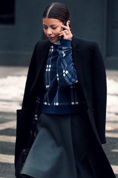 so cool. #AnninaMislin in Acne & Balenciaga in NYC.