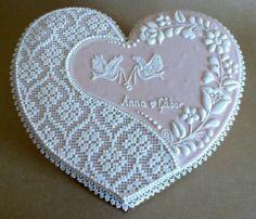 Wedding needlepoint  cookies