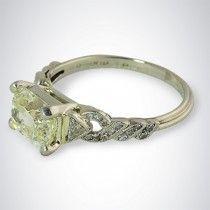 1.54 Carat Art Deco Vintage Diamond Ring