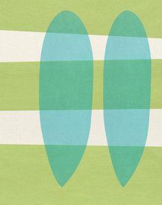 untitled #1 - LARGE mid century design art print