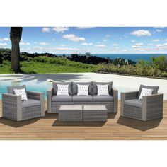 Found it at Wayfair - Atlantic Cameron 5 Piece Deep Seating Group with Cushions