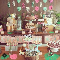 Giraffe Birthday Parties, 2nd Birthday Party Themes, Wild One Birthday Party, Safari Birthday Party, Baby Girl Birthday, Baby Party, Birthday Ideas, Third Birthday, Girl Safari Party