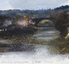 Kurt JacksonCherry blossom , goose honk, Bath. January 2008  acrylic  18cm x 19.5cm NFS