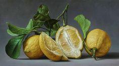 23 Hyper-realism Paintings By Italian Artist Gioacchino Passini Italian Painters, Italian Artist, Tjalf Sparnaay, Lemon Art, Hyper Realistic Paintings, Fruit Painting, Lemon Painting, Still Life Photos, Blooming Rose
