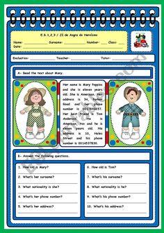 English Grammar Quiz, English Exercises, Reading Test, English Reading, Vocabulary Worksheets, Teacher Binder, Teaching English, Reading Comprehension, Education