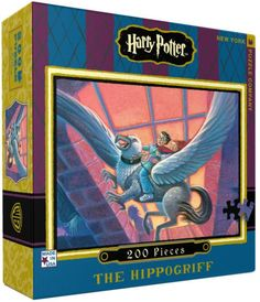 Join Harry Potter on his flight from Hogwarts as he rides away on the back of Buckbeak the Hippogriff. This 200 piece jigsaw puzzle, Illustrated by original Harry...