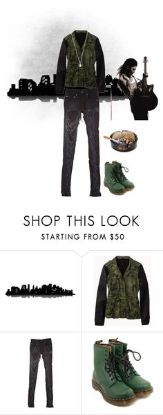 """""""Morphine:Camo Jacket"""" by twisted-doll ❤ liked on Polyvore featuring Universal Lighting and Decor, Forever 21, Stolen Girlfriends Club, Dr. Martens, Vanessa Mooney, men's fashion, menswear, grunge, rocker and OC"""