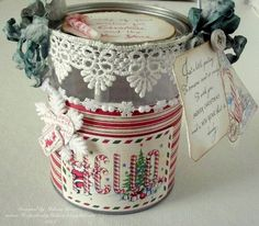 Christmas Paint Can.  Great for next years Teachers's gift.