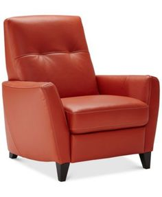 Geovany Leather Tufted Pushback Recliner | macys.com