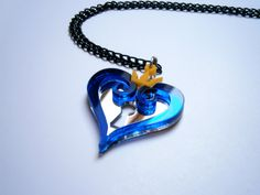 Kingdom Hearts Hearts Emblem Necklace Laser by LaserCutJewelry, $11.85
