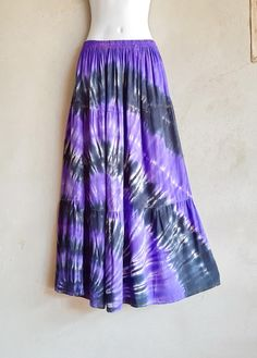 Purple Black Tie Dye Patchwork Skirt Boho Hippie Party | Etsy Hippie Party, Festival Skirts, Shibori Tie Dye, Black Tie Dye, Boho Skirts, Hippie Gypsy, Purple And Black, Party Wear, Tie Dye Skirt