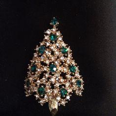 Vintage+Eisenberg+Ice+Christmas+Tree+Brooch+Pin+by+GypsiesAntiques