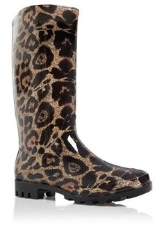 Leopard Print Wellington Boots @Sheila S.P. Myers WE need these!!!! I love them!! :)