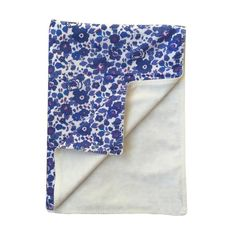 Liberty Print Baby Blanket - Betsy Blue