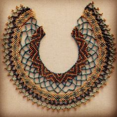 Egyptian faience necklace, 1500-ish BC.  At the Legion of Honor, SF.